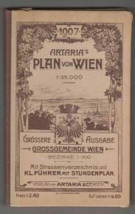 Plan von Wien. Grossgemeinde Wien. Bezirke I-XXI. Mit Strassenverzeichnis und kl