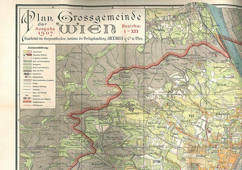 Plan von Wien. Grossgemeinde Wien. Bezirke I-XXI. Mit Strassenverzeichnis und kl 1