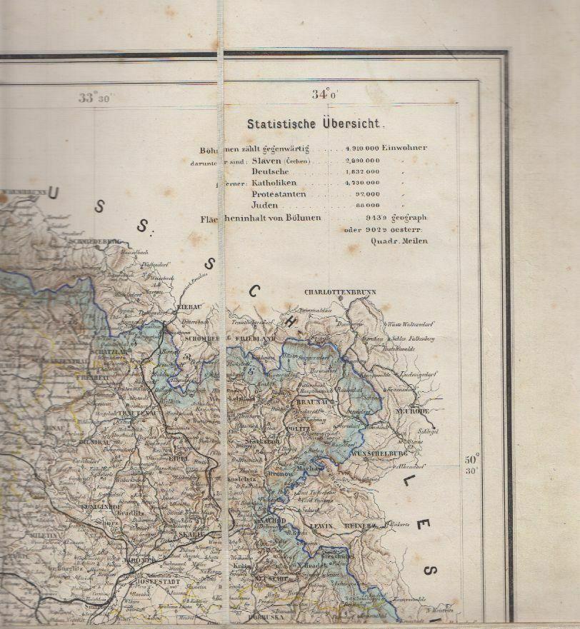 General-Karte des Königreiches Böhmen entworfen und nach den neuesten Aufnahmen 1