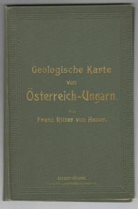 Geologische Karte von Österreich-Ungarn mit Bosnien und Montenegro. HAUER, Franz