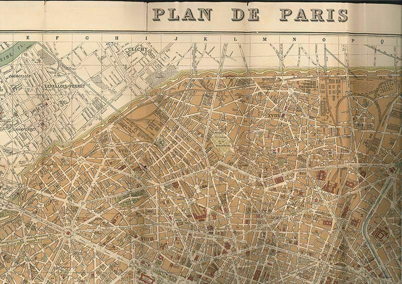 Plan de Paris. 1897. 1