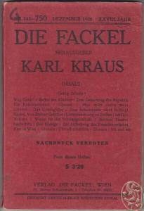 DIE FACKEL. Hrsg. Karl Kraus. 1926 0660-04