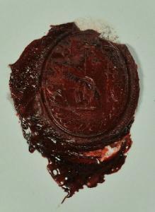 Bürgerliches Siegel mit Namensinschrift: Jacul... 1850