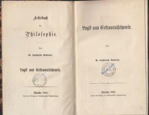 GUTBERLET, Lehrbuch der Philosophie. 1881