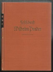 Festschrift Wilhelm Pinder zum sechzigsten... 1938