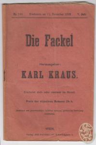 DIE FACKEL. Hrsg. Karl Kraus. 0408-16