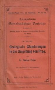 LIEBUS, Geologische Wanderungen in der Umgebung... 1911