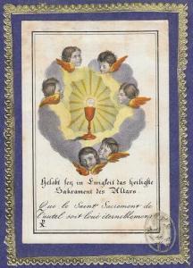 Gelobt den in Ewigkeit das heiligste Sakrament... 1800