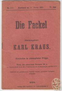 DIE FACKEL. Hrsg. Karl Kraus.