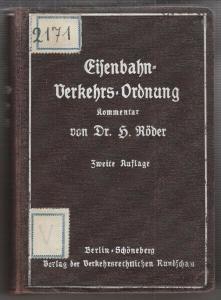 EISENBAHN-VERKEHRSORDNUNG. Deutsche vom 16. Mai... 1928