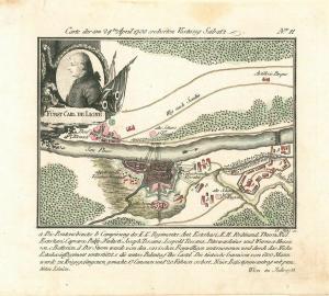 Carte der am 24ten April 1788 eroberten Vestung Sabatz. Nr. 11. KOHL, Clemens.