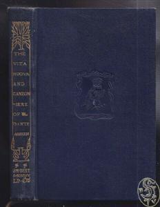 DANTE, The vita nuova and canzoniere. 1924