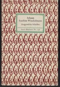 WINCKELMANN, Ausgewählte Schriften. Eingeleitet... 1914