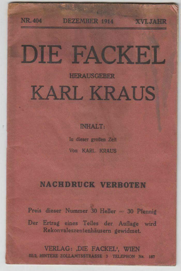 Die Fackel. KRAUS, Karl. 0