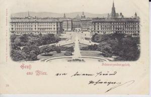 Gruß aus Wien. Schwarzenbergplatz. 1890