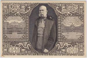 1848. 1908. Franciscus Josephus I. D. G. IMP. Austr. Rex Boh. Gal. Ill. Etc. Et.