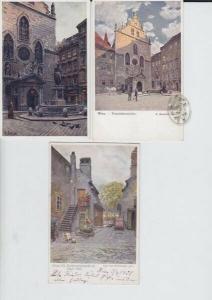 Konvolut von 6 farb. Postkarten.