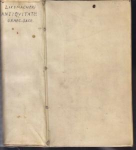 LAKEMACHER, Antiquitates Graecorum Sacrae. 1734