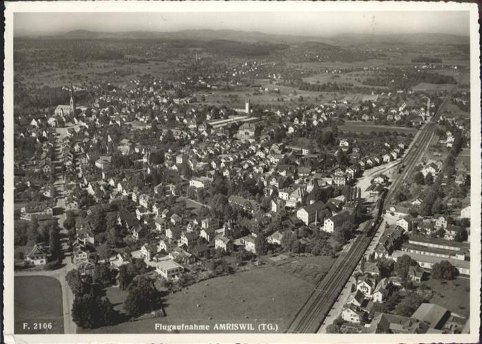 Amriswil TG Fliegeraufnahme  / Amriswil /Bz. Bischofszell