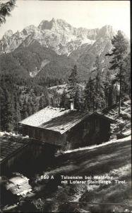 Waidring Tirol Talsenalm  / Waidring /Tiroler Unterland