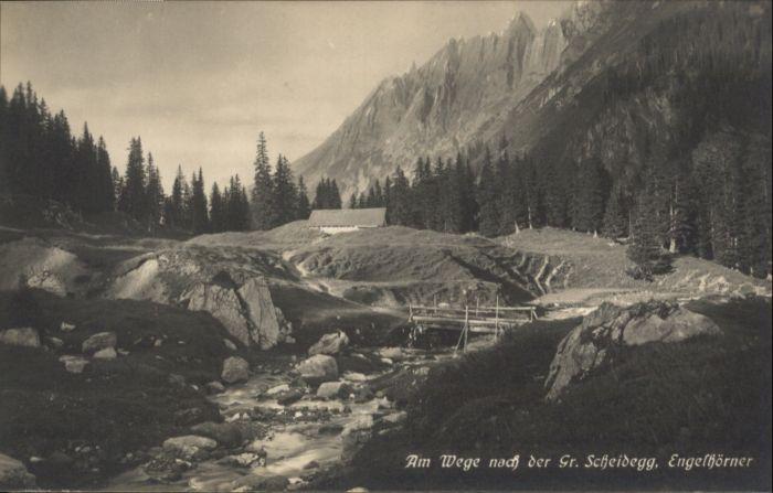Grosse Scheidegg Grosse Scheidegg Engelhoerner * / Scheidegg, Grosse /Rg. Meiringen