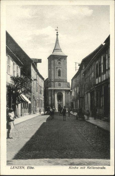 Lenzen Elbe Lenzen Kirche Kellerstrasse * / Lenzen Elbe /Prignitz LKR