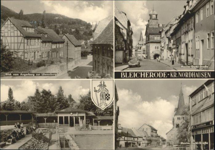 Bleicherode Bleicherode Maxim Gorki Strasse Loewenburg x / Bleicherode /Nordhausen LKR