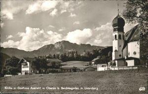 Oberau Berchtesgaden Oberau Berchtesgaden Untersberg Kirche Gasthaus Auerwirt x / Berchtesgaden /Berchtesgadener Land LKR