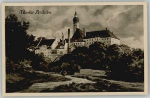 Erling Erling Kloster Andechs ungelaufen ca. 1920 / Andechs /Starnberg LKR