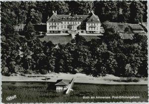 Buch Ammersee Buch Ammersee Fliegeraufnahme Posterholungsheim ungelaufen ca. 1965 / Inning a.Ammersee /Starnberg LKR