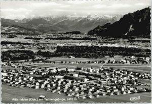 Mitterfelden Mitterfelden Fliegeraufnahme ungelaufen ca. 1965 / Ainring /Berchtesgadener Land LKR
