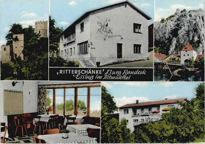 Essing Ritterschaenke Burg Randeck o 1966 Nr. wd89415 - oldthing ...