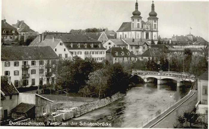 Donaueschingen Donaueschingen Schuetzenbruecke * / Donaueschingen /Schwarzwald-Baar-Kreis LKR