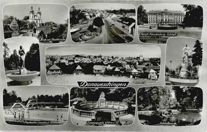 Donaueschingen Donaueschingen Donauquelle Parkschwimmbad * / Donaueschingen /Schwarzwald-Baar-Kreis LKR