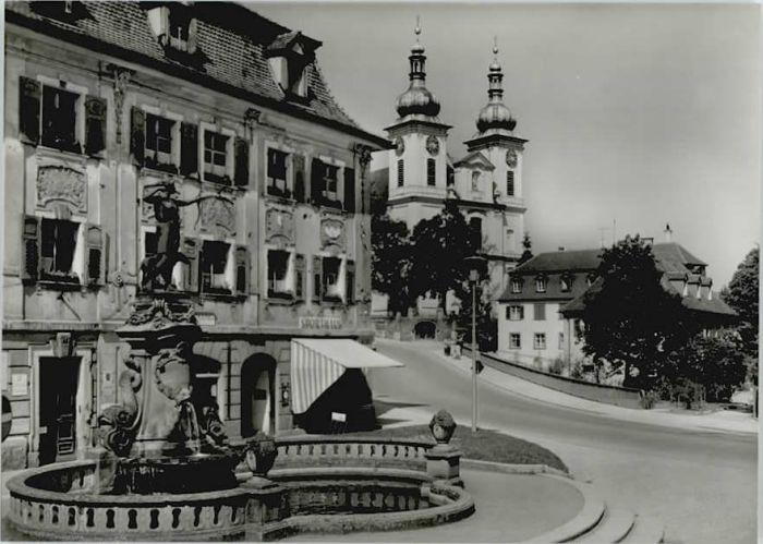 Donaueschingen Donaueschingen Dianabrunnen Stadtkirche * / Donaueschingen /Schwarzwald-Baar-Kreis LKR