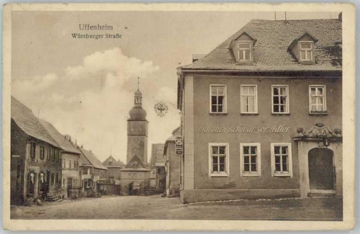 uffenheim v 1926 der marktplatz gesch ft wilhelm potter gasthof kirche 7033 nr 330095931. Black Bedroom Furniture Sets. Home Design Ideas