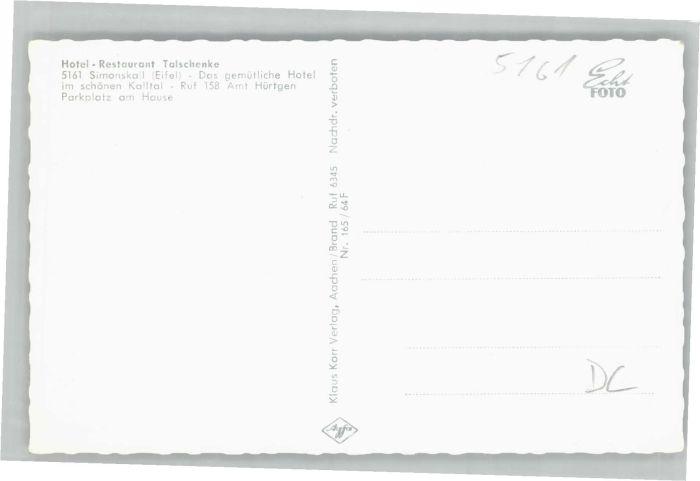 Simonskall Talschaenke * Nr. we77151 - oldthing: Ansichtskarten ...