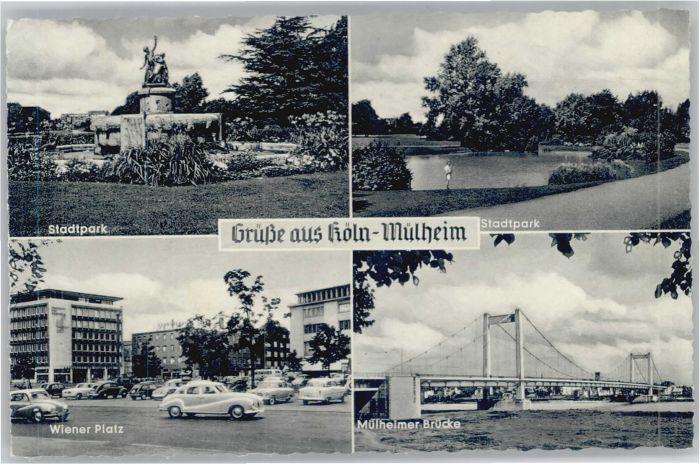 Muelheim Koeln Wiener Platz Stadtpark Nr We87405 Oldthing