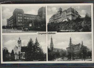 Siegmar-Schoenau Wanderer-Werke Rathaus Lutherkirche *