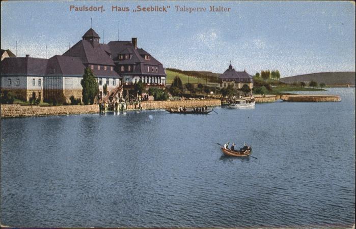 Paulsdorf Dippoldiswalde Haus Seeblick Talsperre Malter *