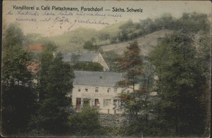 Porschdorf Porschdorf Konditorei Cafe Pietschmann x / Porschdorf /Saechsische Schweiz-Osterzgebirge LKR