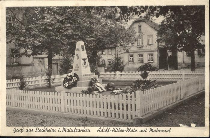 Stockheim Oberfranken Mahnmal