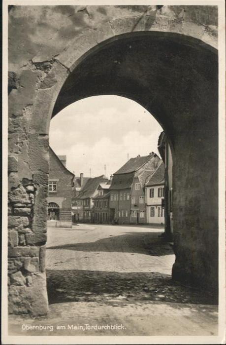 Obernburg Main Tordurchblick