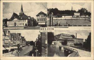 Uelzen Lueneburger Heide Uelzen Rathaus Turm Marien Kirche Sommerbad Aussenmuehle * / Uelzen /Uelzen LKR