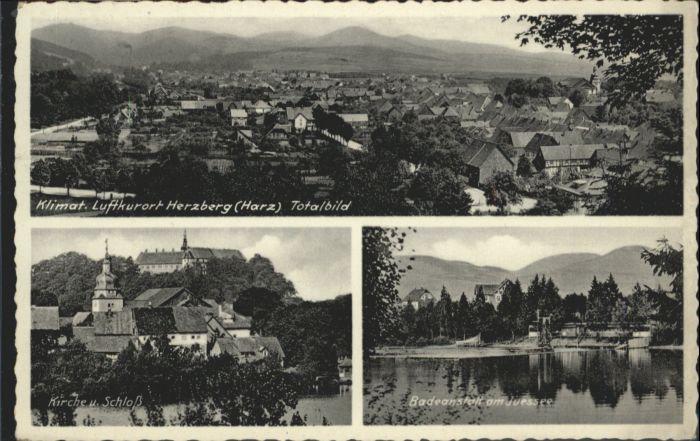 Herzberg Harz Kirche Schloss Badeanstalt Juessee x