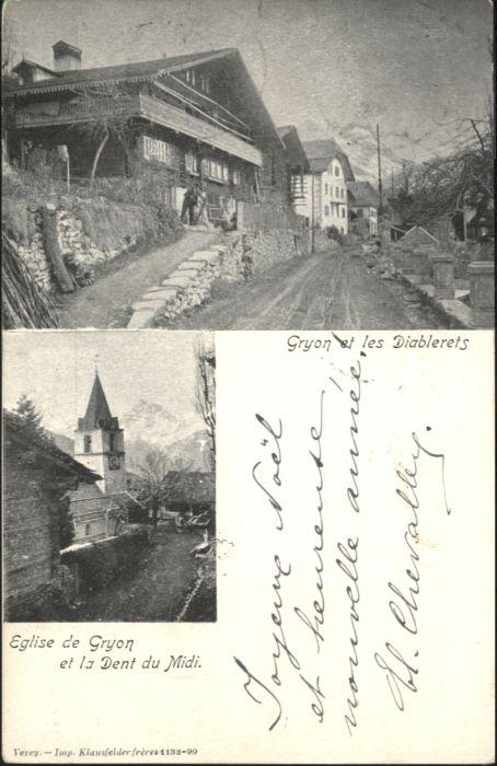 Gryon Les Diablerets Eglise Dent du Midi x