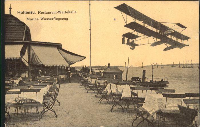 Holtenau Kiel Restaurant Wartehalle Marine Wasserflugzeug * / Kiel /Kiel Stadtkreis