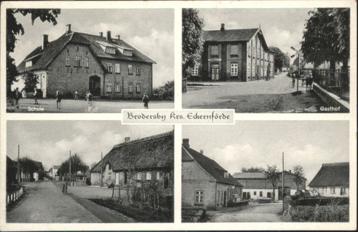 Brodersby Schleswig Brodersby Schleswig Schule Gasthof  * / Brodersby /Schleswig-Flensburg LKR
