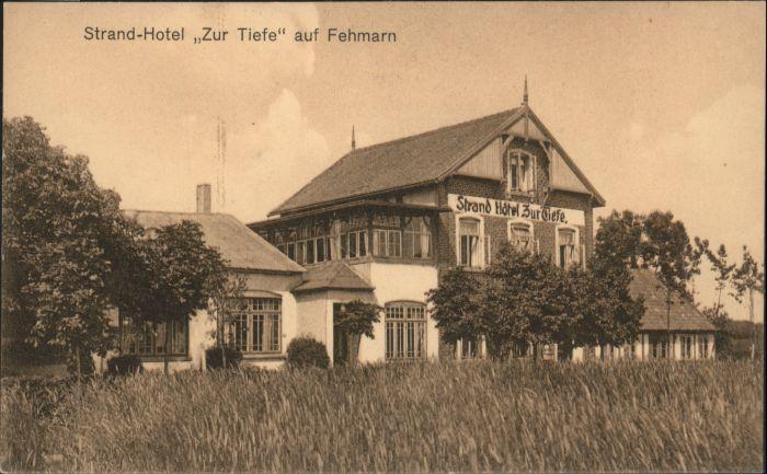 Fehmarn Fehmarn Strandhotel zur Tiefe * / Fehmarn /Ostholstein LKR
