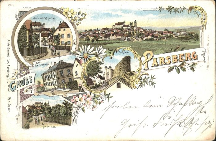 Parsberg Oberpfalz Parsberg Oberpfalz Marktplatz Bezirksamt x